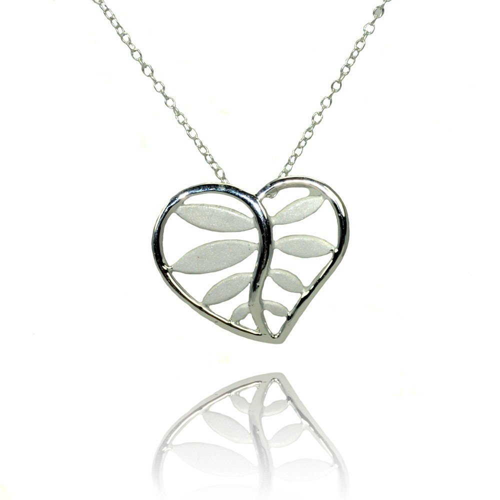 Silver Necklace .925 Ladies Sterling Jewelry stp01367