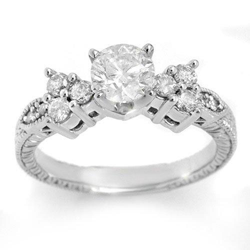Natural 1.14 ctw Diamond Ring 14K White Gold