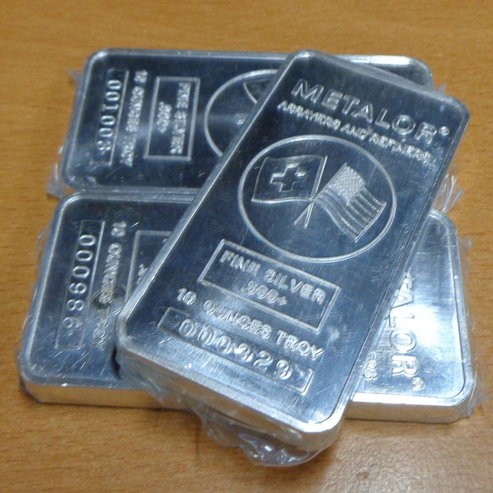 3pcs 10oz Silver Bar - .999 Fine Silver
