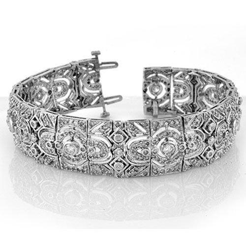 Natural 8.0 ctw Diamond Bracelet 14K White Gold