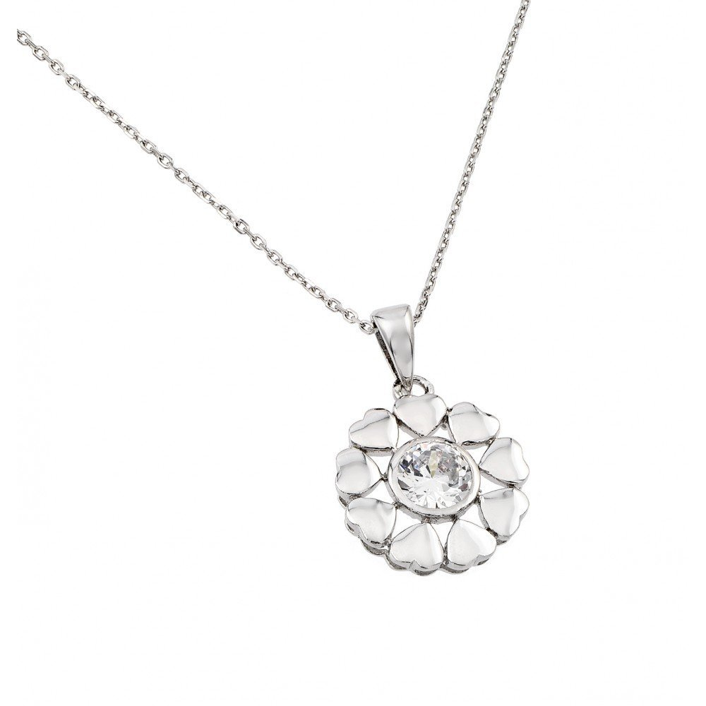 Silver Necklace .925 Ladies Sterling Jewelry bgp00892