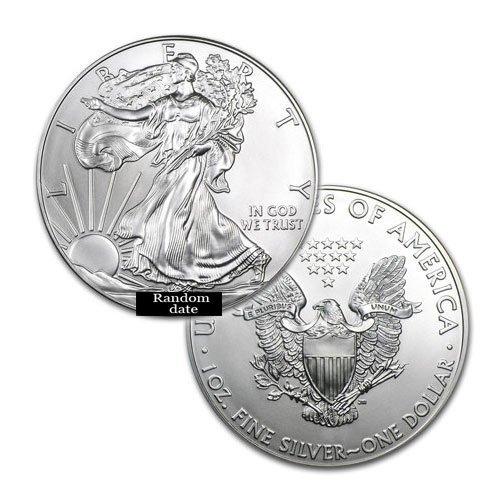 BRILLIANT UNCIRCULATED 1oz Silver American Eagle -