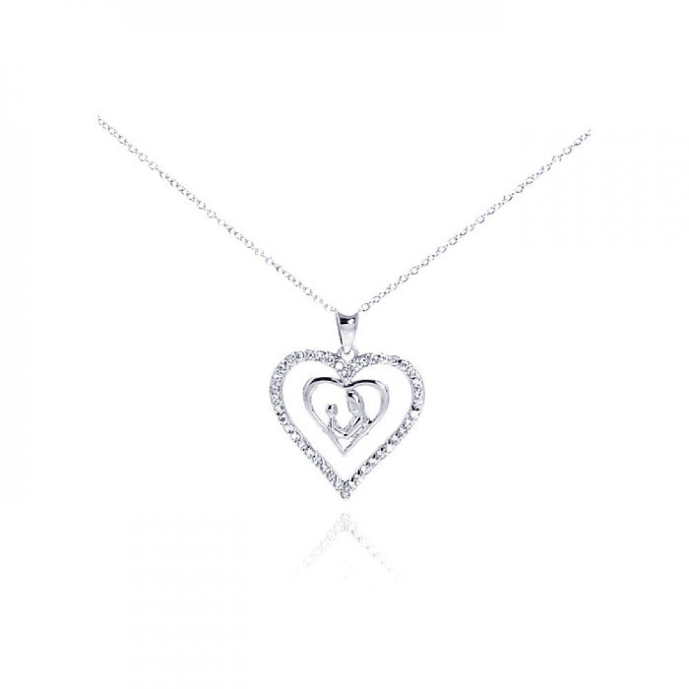 Silver Necklace .925 Ladies Sterling Jewelry stp00765