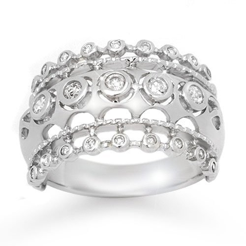 Natural 0.83 ctw Diamond Ring 14K White Gold