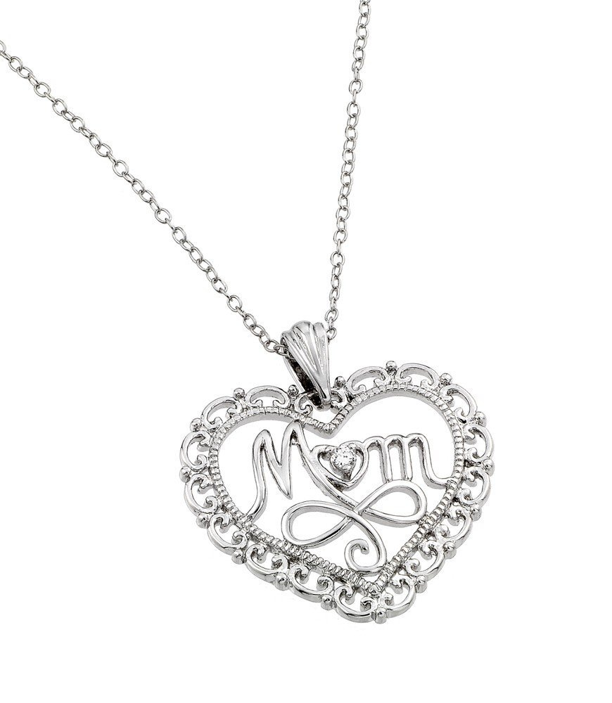 Silver Necklace .925 Ladies Sterling Jewelry bgp00839