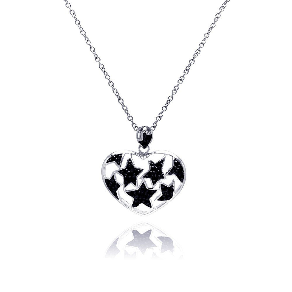 Silver Necklace .925 Ladies Sterling Jewelry bgp00183