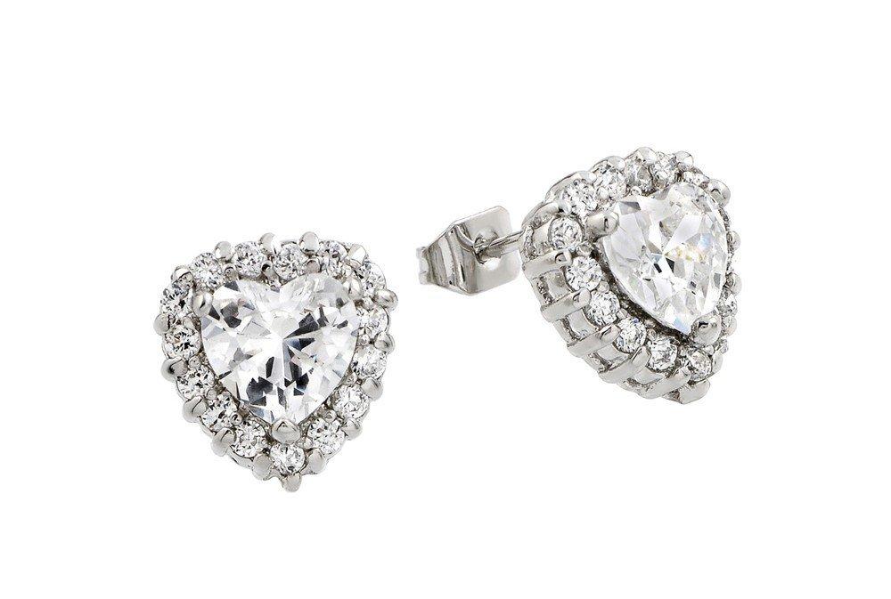 Silver Earrings .925 Ladies Sterling Jewelry bge00367c