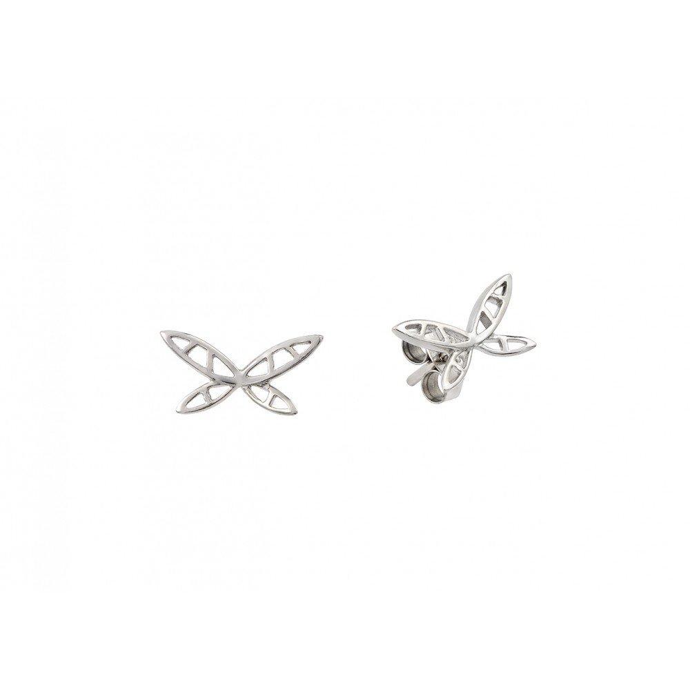 Silver Earrings .925 Ladies Sterling Jewelry ste00875