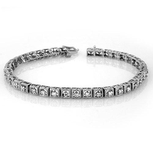 Natural 1.0 ctw Diamond Bracelet 10K White Gold