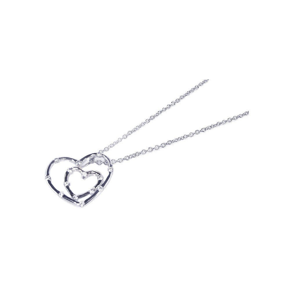 Silver Necklace .925 Ladies Sterling Jewelry stp00567