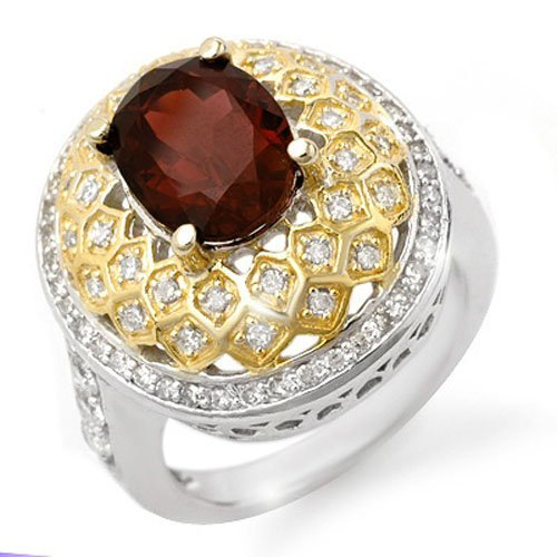 Genuine 3.1 ctw Pink Tourmaline & Diamond Ring 14K Gold