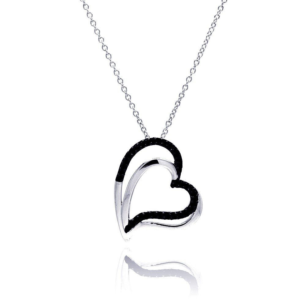 Silver Necklace .925 Ladies Sterling Jewelry bgp00181