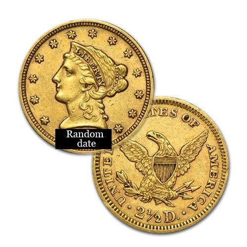 $2.5 Liberty Gold - Quarter Eagles - 1840 to 1907 -