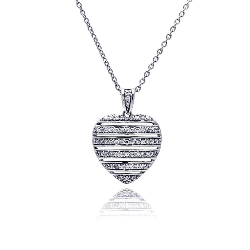 Silver Necklace .925 Ladies Sterling Jewelry stp00454