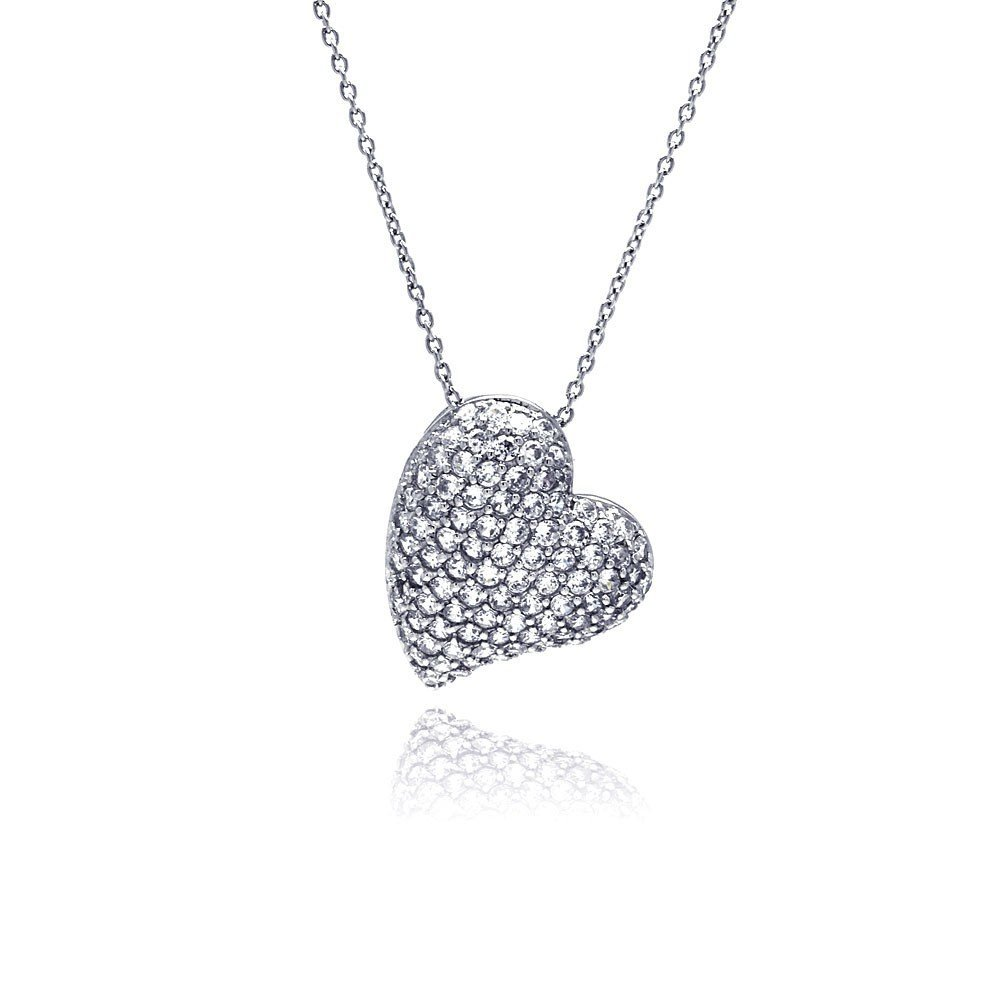 Silver Necklace .925 Ladies Sterling Jewelry stp00134