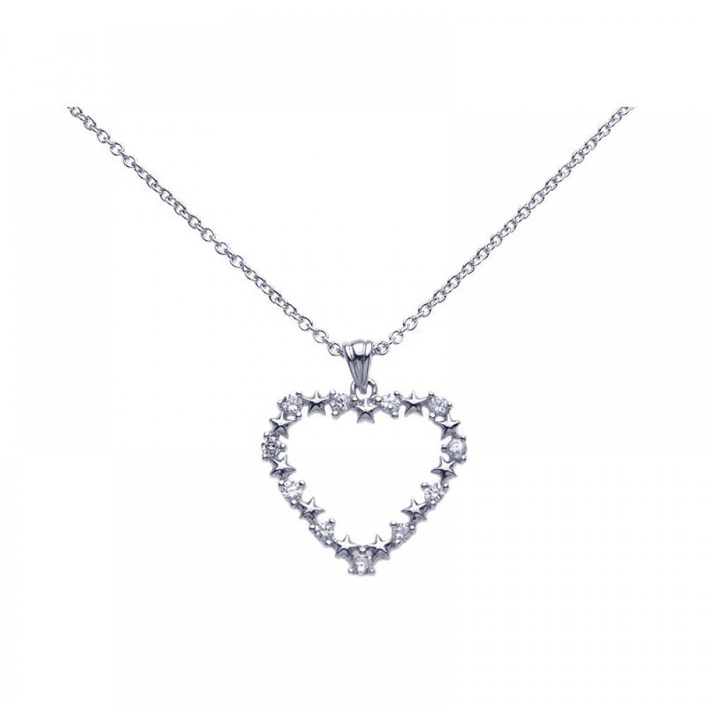 Silver Necklace .925 Ladies Sterling Jewelry stp00660 -