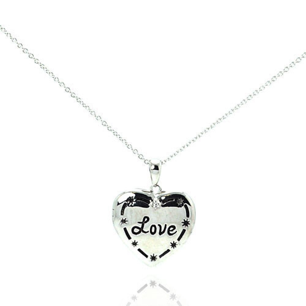 Silver Necklace .925 Ladies Sterling Jewelry stp00621 -