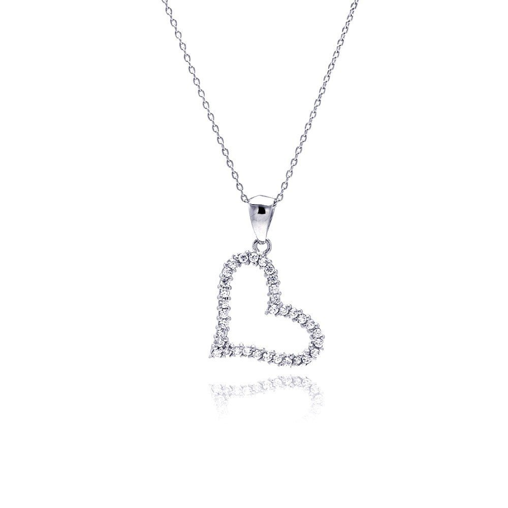 Silver Necklace .925 Ladies Sterling Jewelry stp00017 -