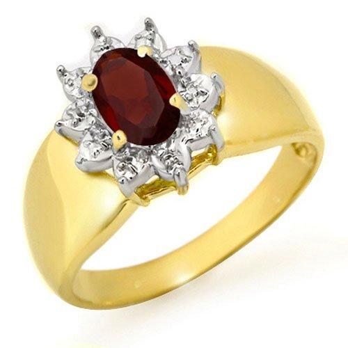 Genuine 0.50 ctw Garnet Ring 10K Yellow Gold