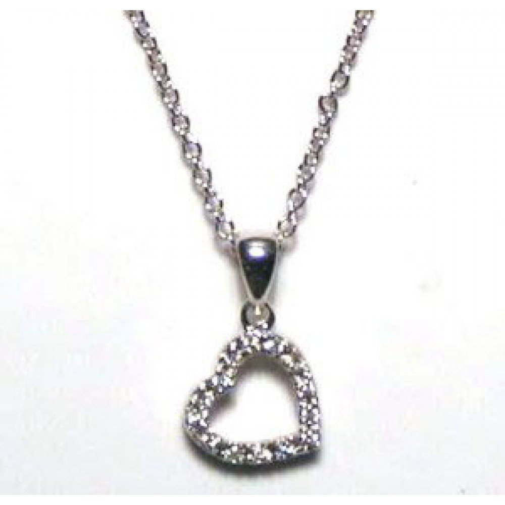 Silver Necklace .925 Ladies Sterling Jewelry stp00025