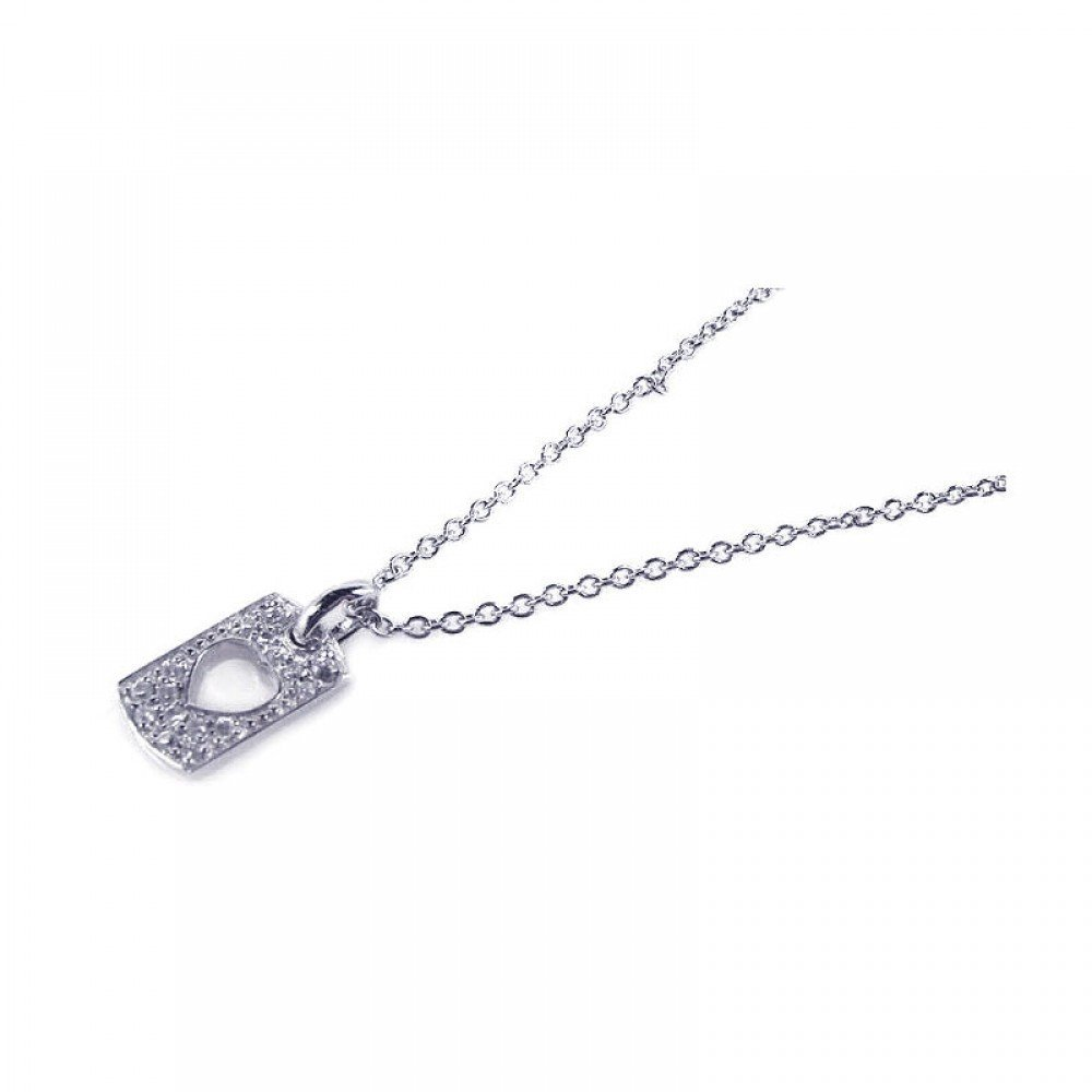 Silver Necklace .925 Ladies Sterling Jewelry stp00651