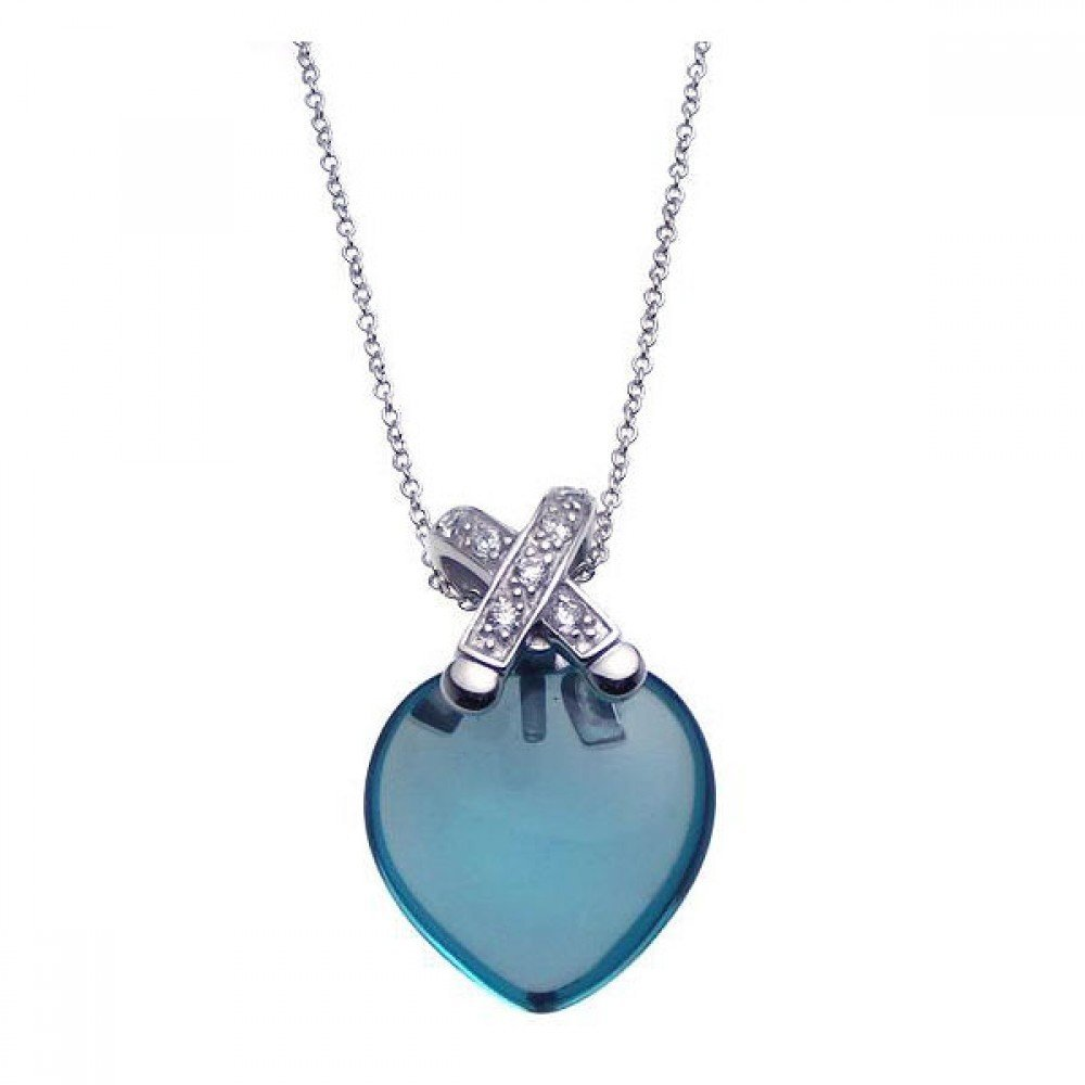 Silver Necklace .925 Ladies Sterling Jewelry stp00924