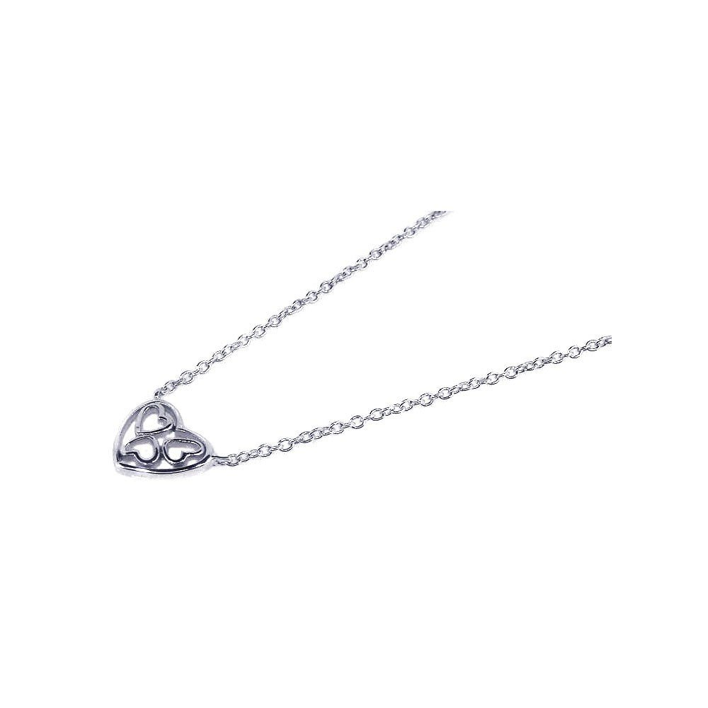 Silver Necklace .925 Ladies Sterling Jewelry stp00568