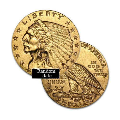 $2.5 Indian Gold - Quarter Eagles - 1908 to 1929 -