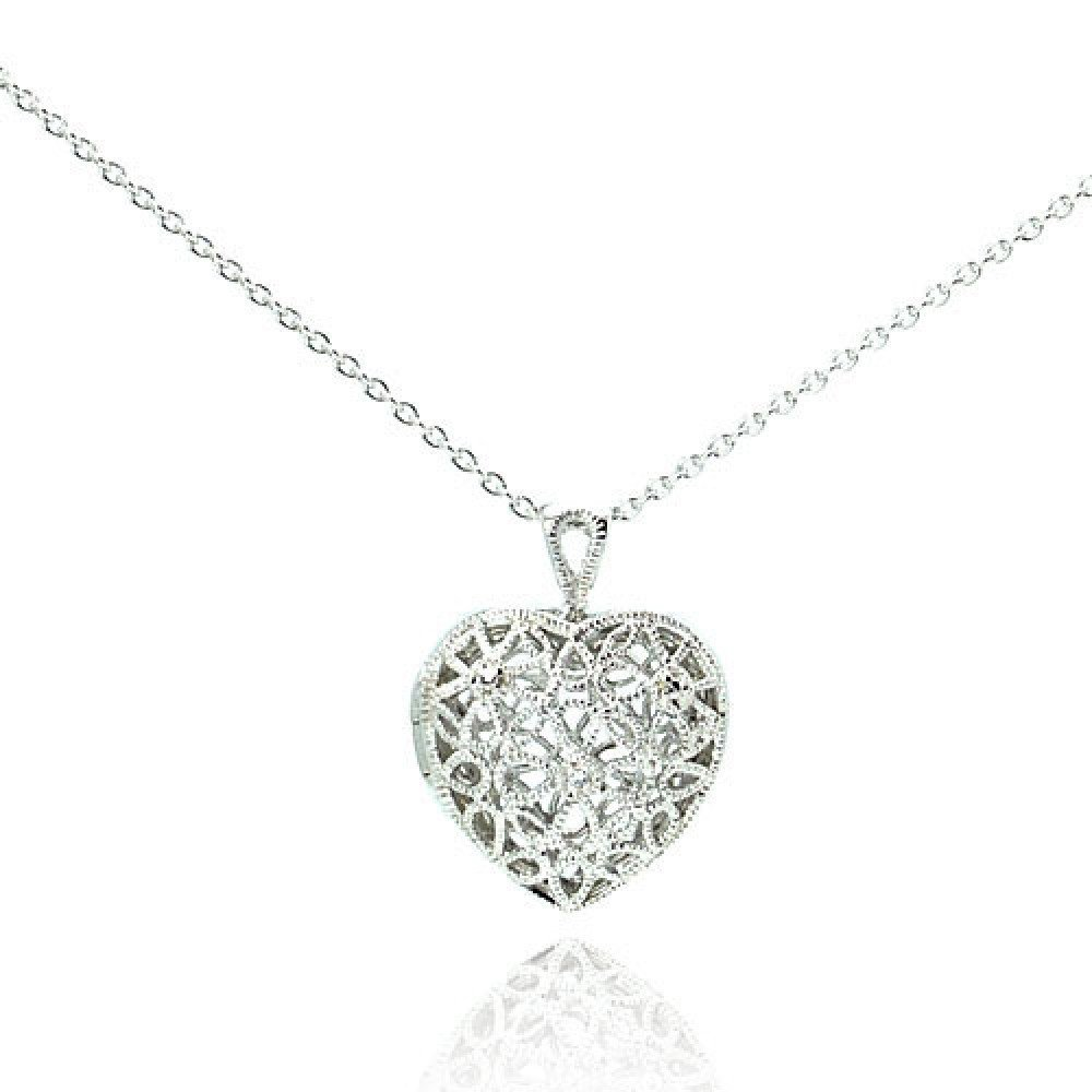 Silver Necklace .925 Ladies Sterling Jewelry stp00251