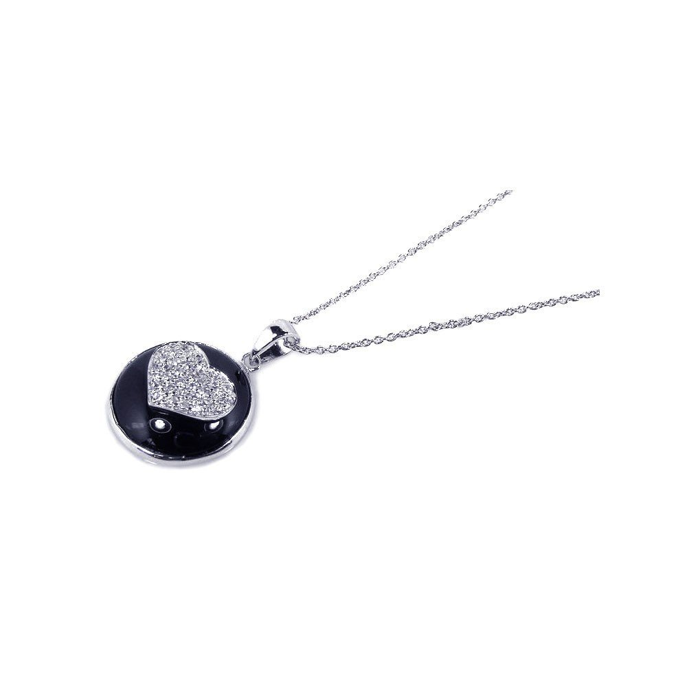 Silver Necklace .925 Ladies Sterling Jewelry stp00723