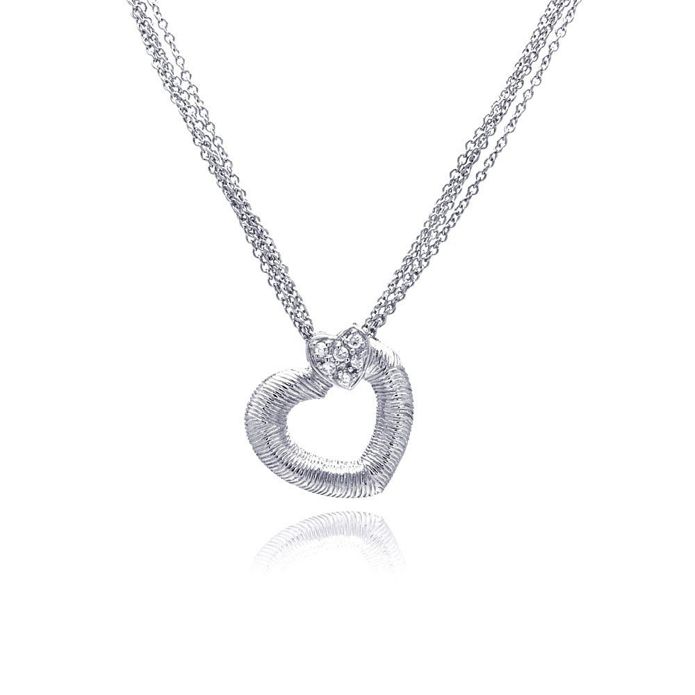 Silver Necklace .925 Ladies Sterling Jewelry stp00232