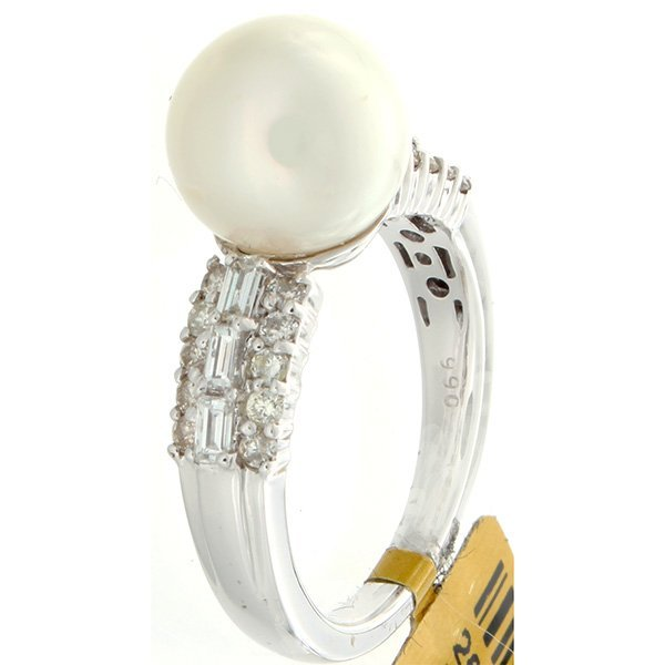 18K White Gold Jewelry 7.62ctw Pearl & Diamond Ring