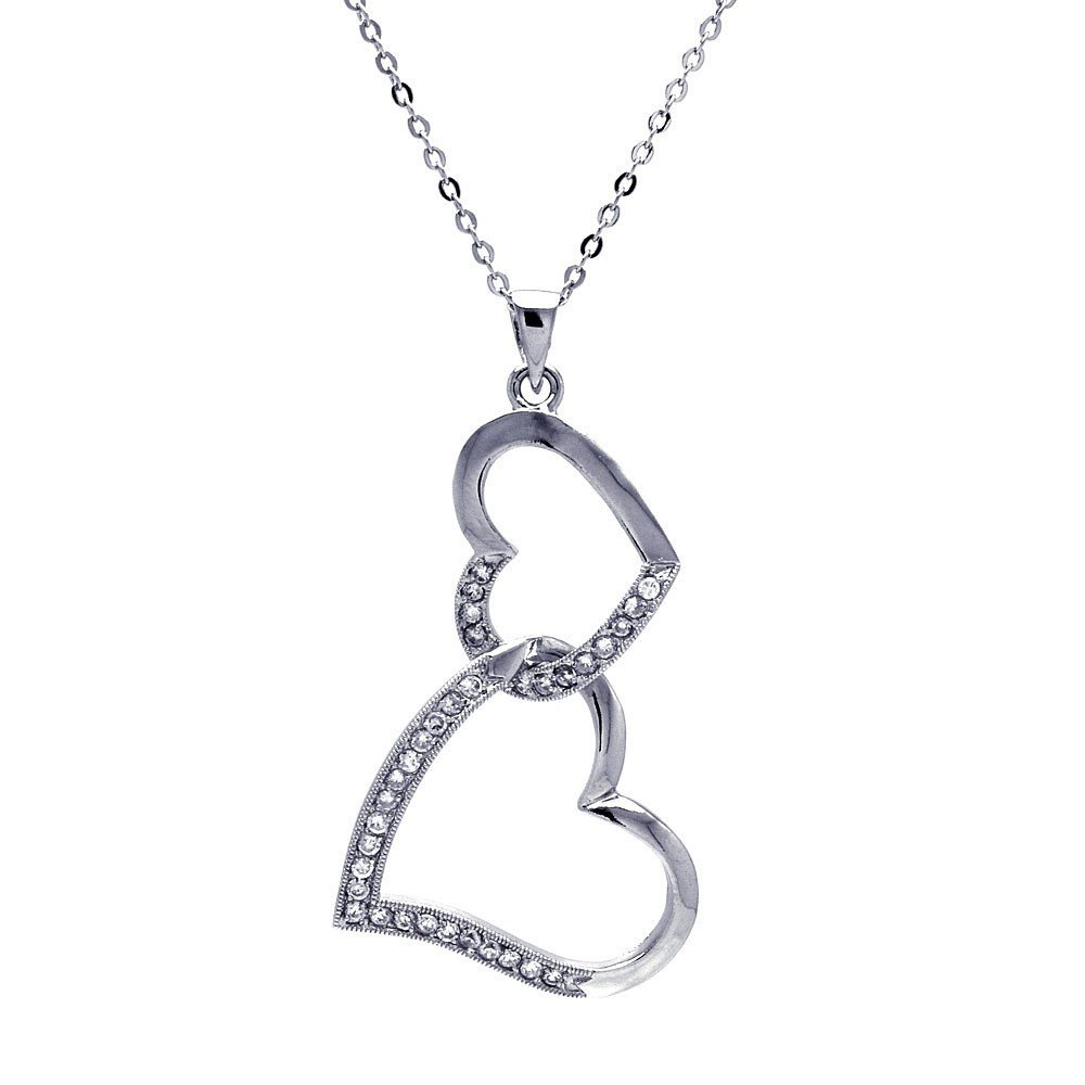 Silver Necklace .925 Ladies Sterling Jewelry bgp00025