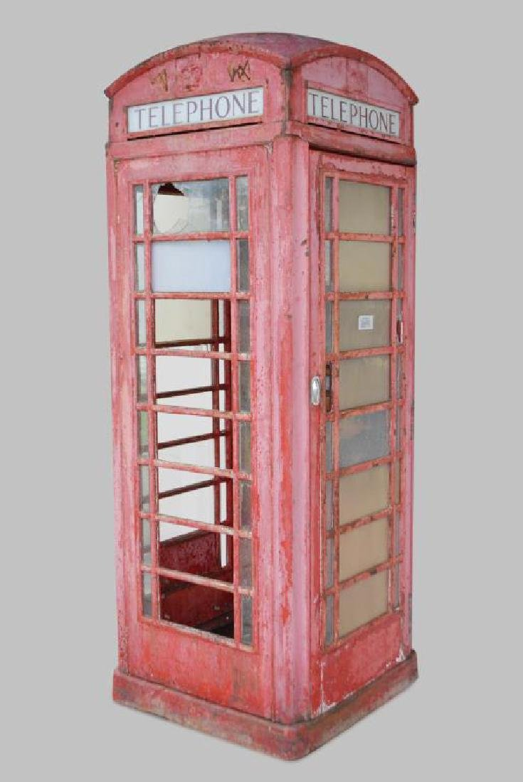 "English Phone Booth 98""H,   36""  x   36"""