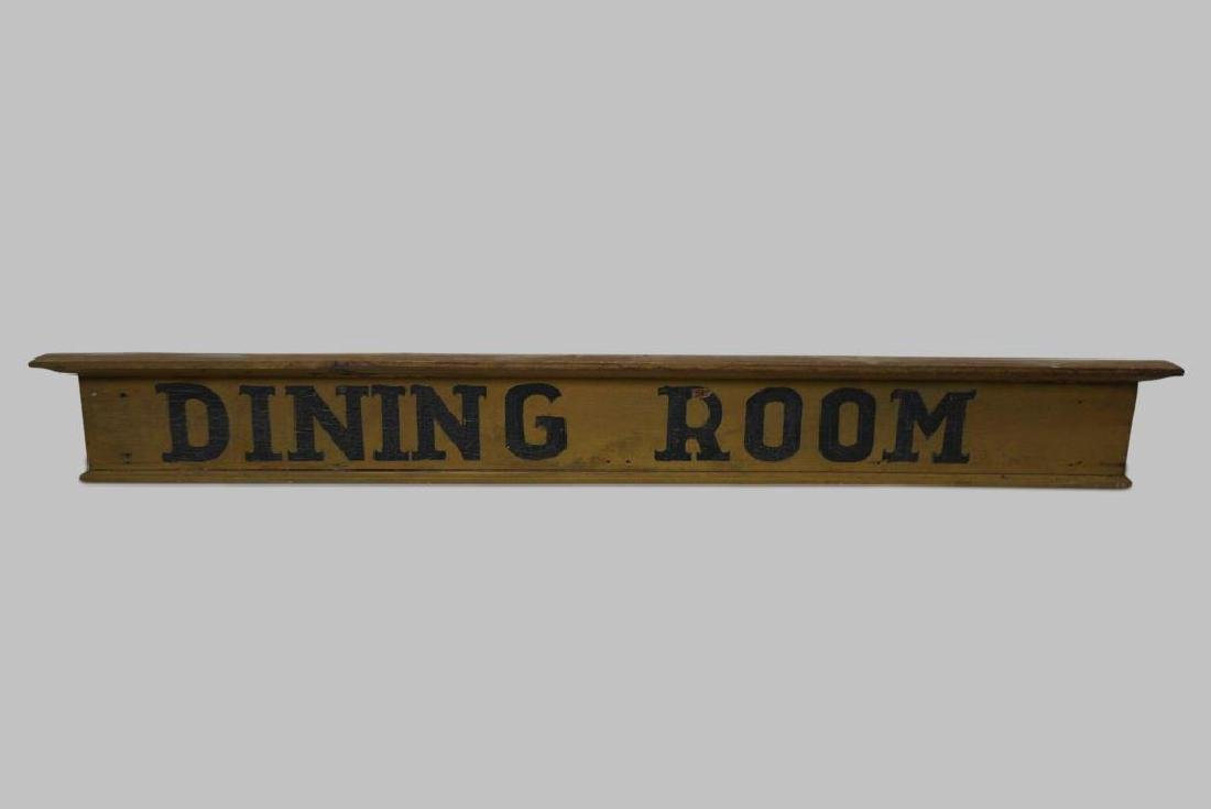 "Wooden Sign ""Dining Room"" 6 1/2""  x   55 1/2"""