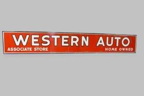 """Western Auto Dealer Sign porcelain 28""""  x   186"""""""