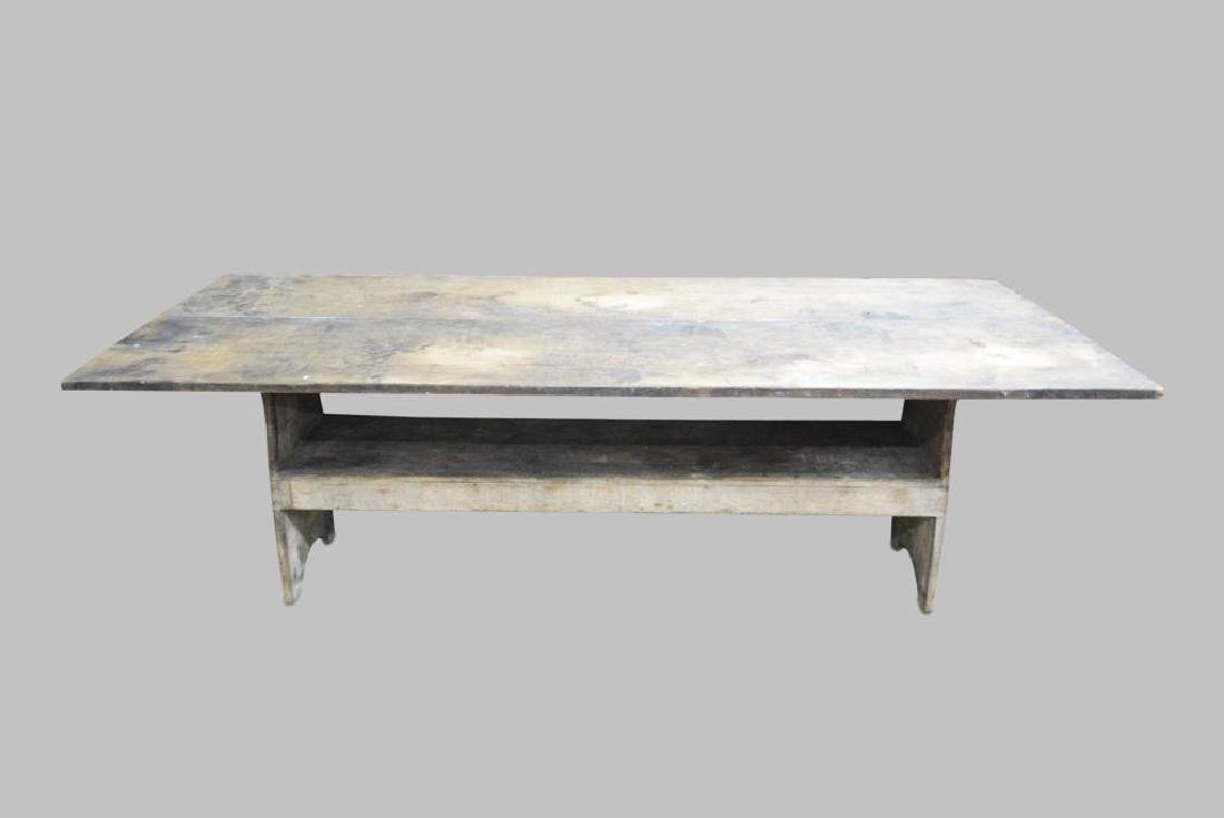 Early Pa. Farm Table/ in old worn painted surface 29