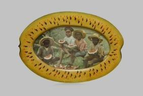 "Folk Art Black Americana Framed Print 16 3/4""  x   24"""