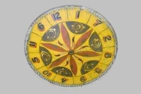 "Late 19th C. Metal Painted Game Wheel 28"" diam.     3"
