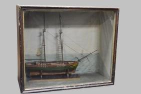 Late 19th C. Ship Diorama