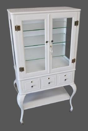 "Painted Medical Cabinet 57 1/2""H,   30""  x   16"""