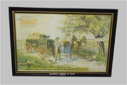 "Tin Advertising Wagon Trade Sign 23 1/2"" x 34 1/2"""