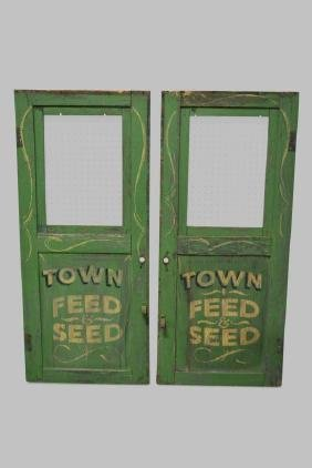 Advertising Feed and Seed Door