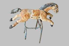 "Iron Carousel Horse 36""H,   37""L,   20""W"