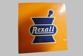 "Rexall Drug Sign porcelain 46""  x   46"""