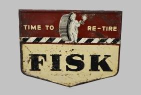 "Fisk Tire Sign - Metal 31 3/4""  x   40"""