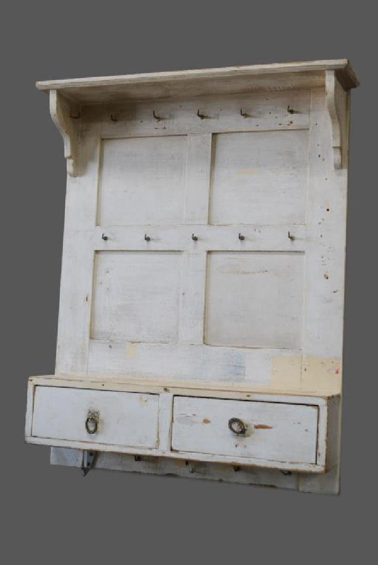 """Painted French Herb Rack w/ Drawers 35 1/2""""H,   29 1/4"""""""