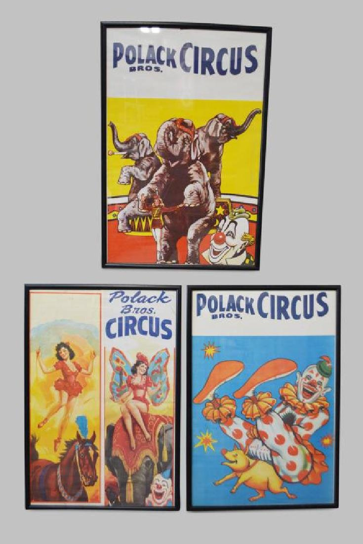 "3-Piece Carnival Poster Lot 41""  x   28 1/4""    ea."