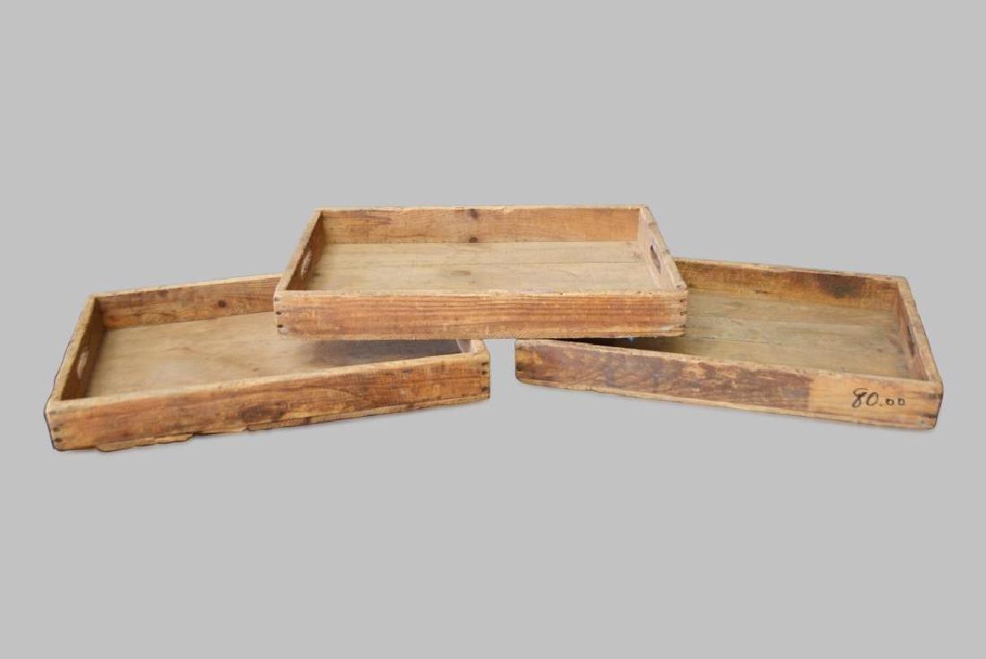 "3-Piece Wooden Tray Lot 4""  x   28""  x   17 1/2""    ea."