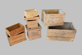 8-Piece Advertising Crate Lot